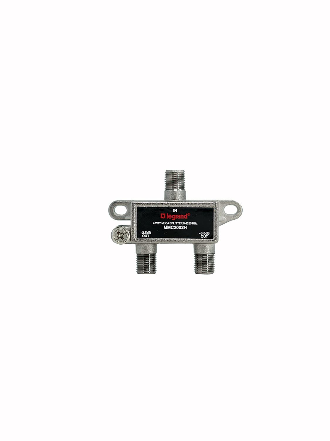 Legrand - On-Q VM2204V1 4Way Digital Cable Splitter with Coax Network Support On Q