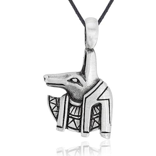 Amazon dans jewelers egyptian anubis necklace pendant fine dans jewelers egyptian anubis necklace pendant fine pewter jewelry aloadofball Images