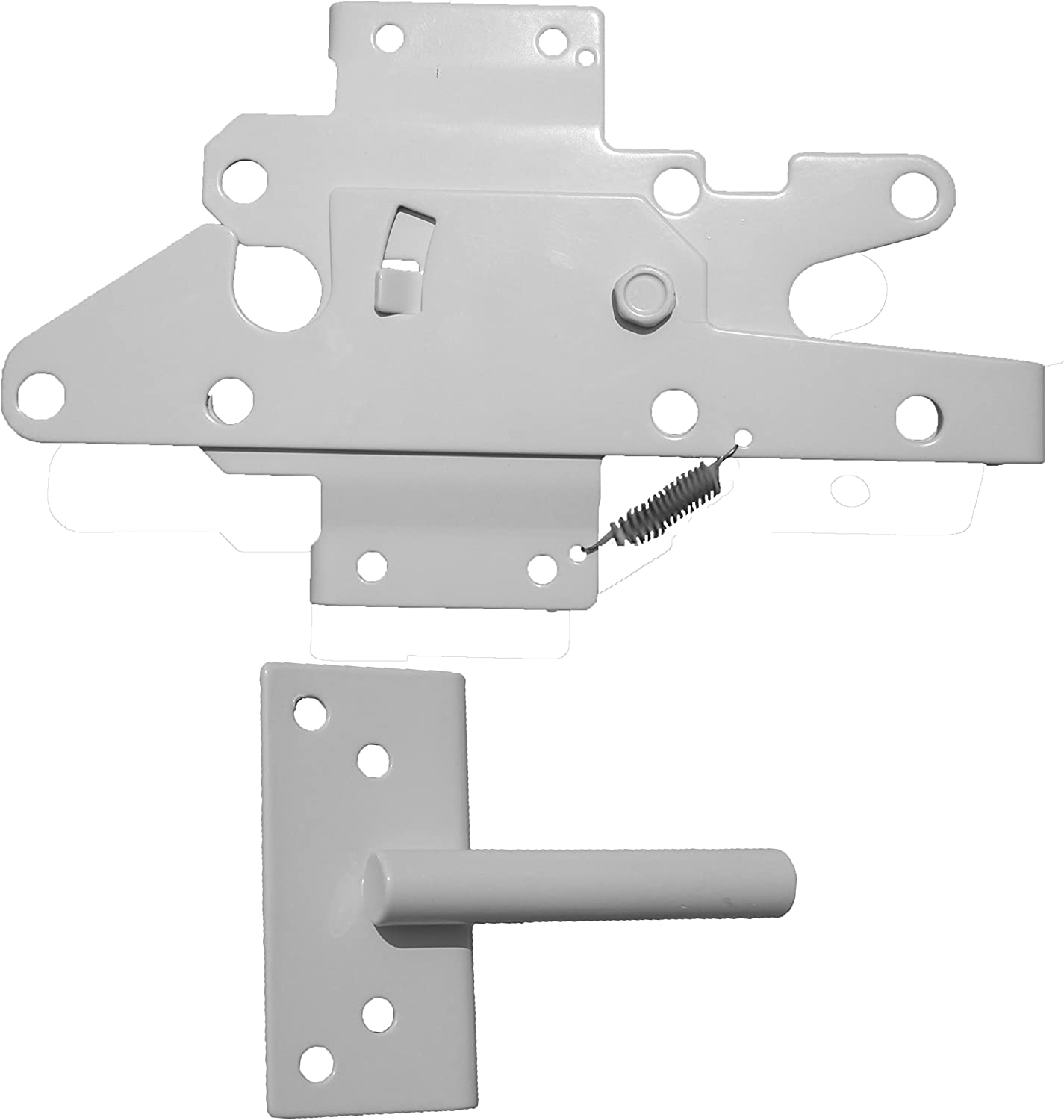 Heavy Duty Stainless Steel PVC//Vinyl Fence Gate Latch and Screws-WHITE