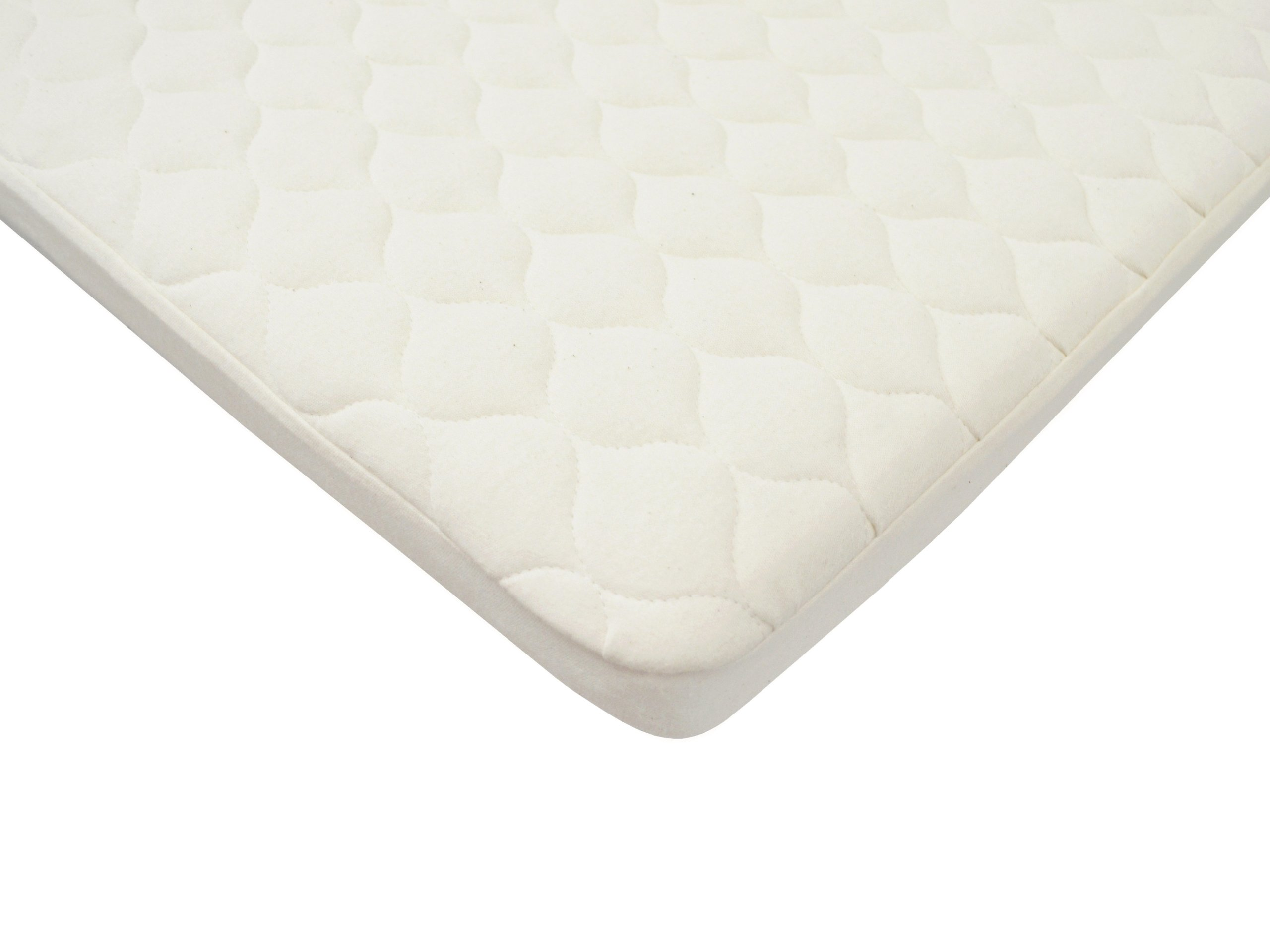 American Baby Company Waterproof Quilted Pack N Play Playard Size Fitted Mattress Cover made with Organic Cotton, Natural Color