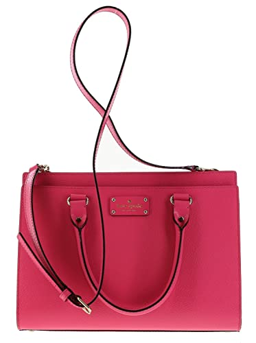 6460c5b2f5b1f Amazon.com: Kate Spade Wellesley Durham Leather Satchel Shoulder Bag in  Caberet Pink (688): Shoes