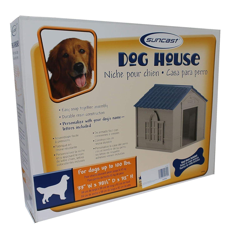 Amazon.com: Suncast - Casa para perro con puerta ...