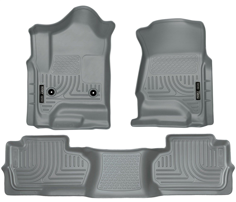Husky Liners Front Floor Liners Fits 14-18 Silverado//Sierra Standard Cab 18241