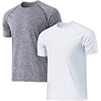TSLA Men's (Pack of 1, 2) Workout Running Shirts, Quick Dry Cool-Dri Short Sleeve Athletic Shirts, Active Sport Gym T…