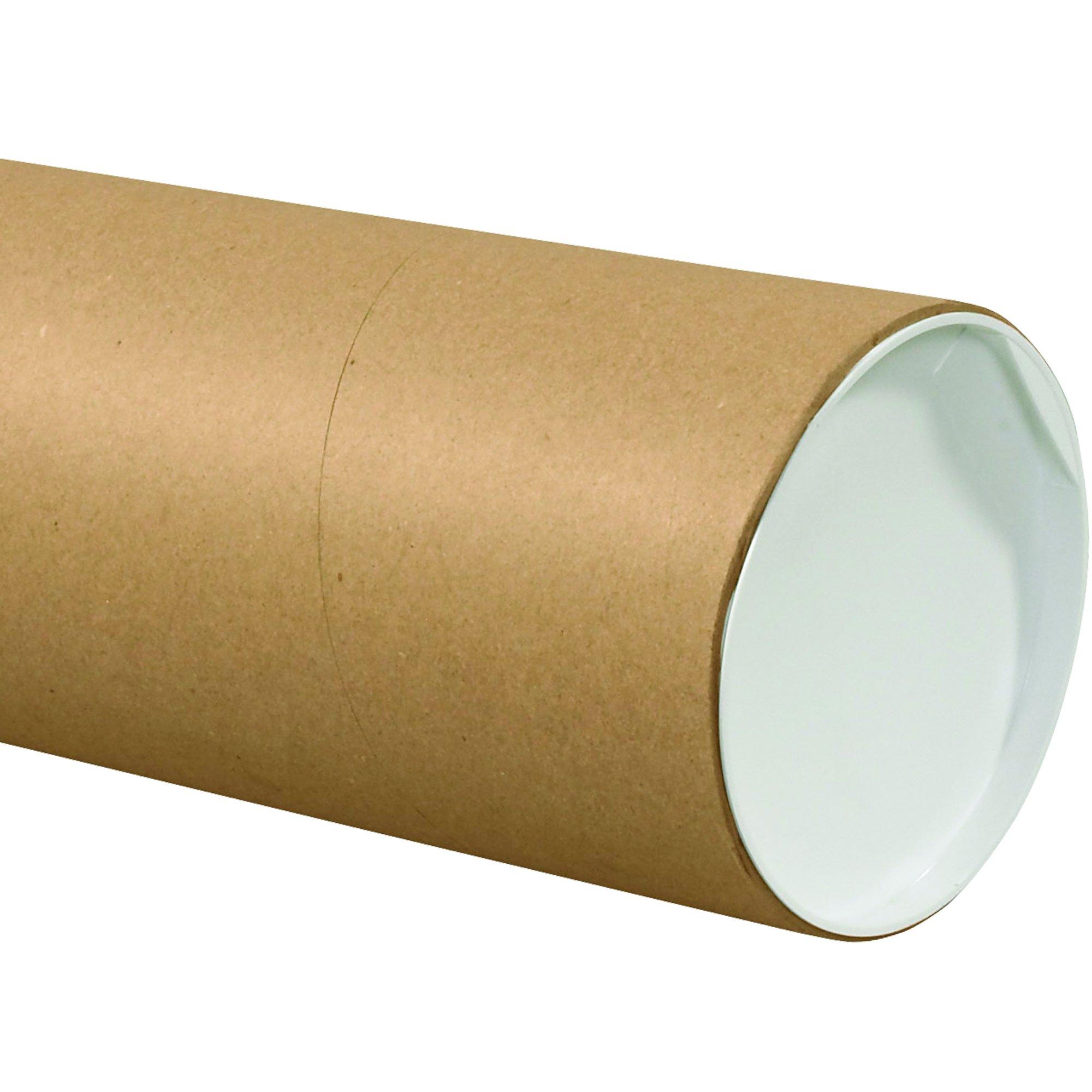 BOX USA BP6060KHD Jumbo Mailing Tubes, 6'' x 60'', Kraft (Pack of 10)