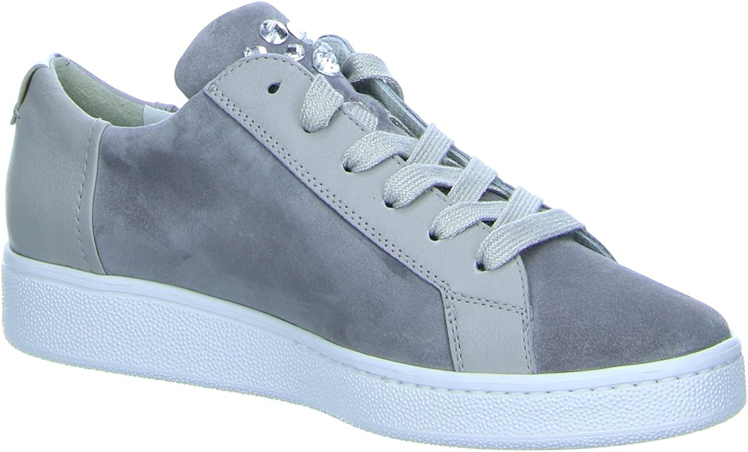 Paul Green Damen Cracked Met/Sz Saphir/Blau Sneaker Grau