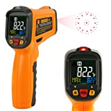 Digital Laser Thermometer Janisa PM6530B Infrared Non Contact Temperature Gun Color Display -58°F~1022°F With 12 Point Aperture Temperature Alarm Function