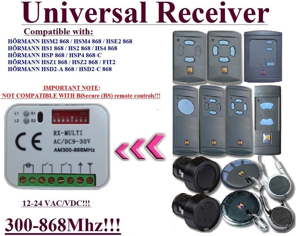 RICEVENTE UNIVERSALE RX-MULTI 300-868Mhz COMPATIBILE NICE FAAC HORMANN SOMMER