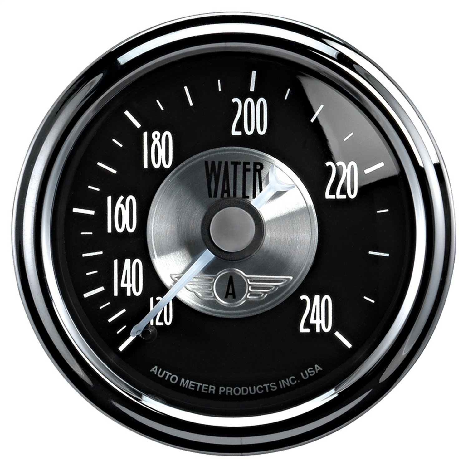 Auto Meter 2033 Prestige Black 2-1/16' 120-240 Degree Mechanical Water Temperature Gauge