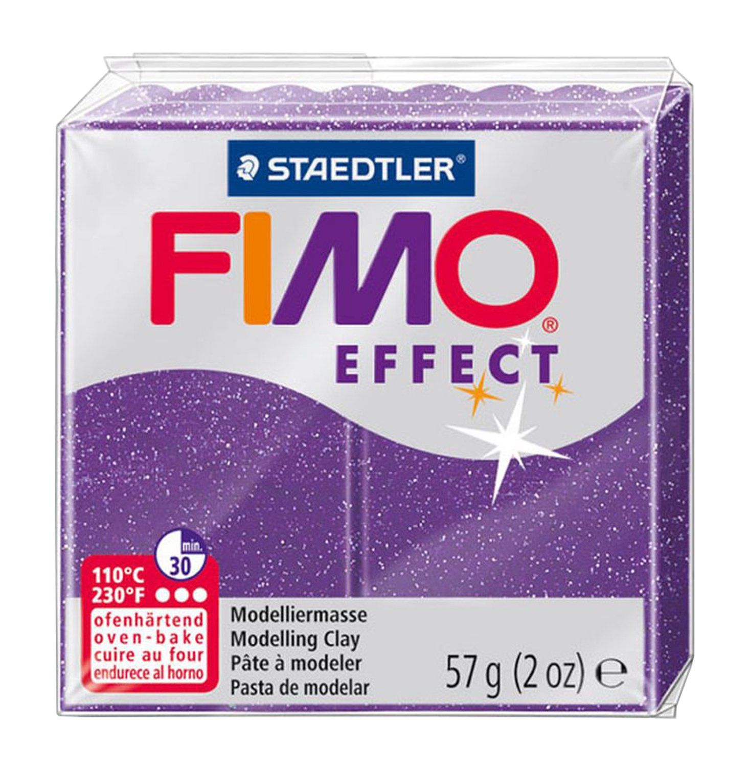 Staedtler FIMO Effects Polymer Clay Sculpting Glitter Blue 8020-302 -Oven Bake Clay for Jewelry