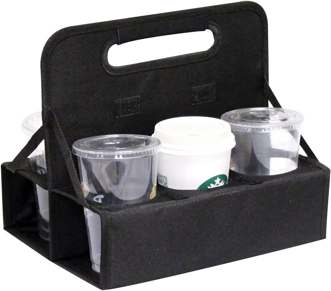 Outdoor Sport Reusable Cup Carrier/Cup Caddy (2 Pack), P7262, Black