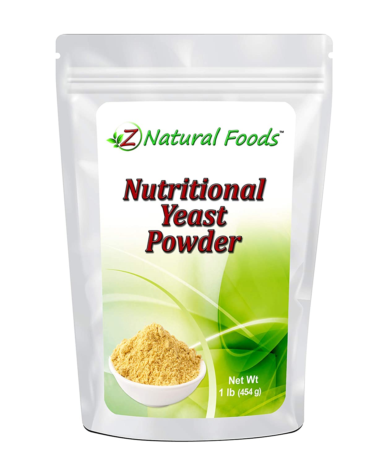 Premium Nutritional Yeast Powder - 1 lb - Fortified, Gluten Free, Non GMO, Vegan - Delicious Cheesy Taste - High In B Vitamins - Plant Protein Perfect For Vegan & Vegetarian Diets