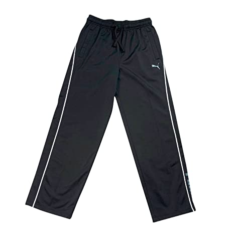 a2f24af7009d Image Unavailable. Image not available for. Color  Puma Big Boys 8-20 Black  Athletic Pants ...