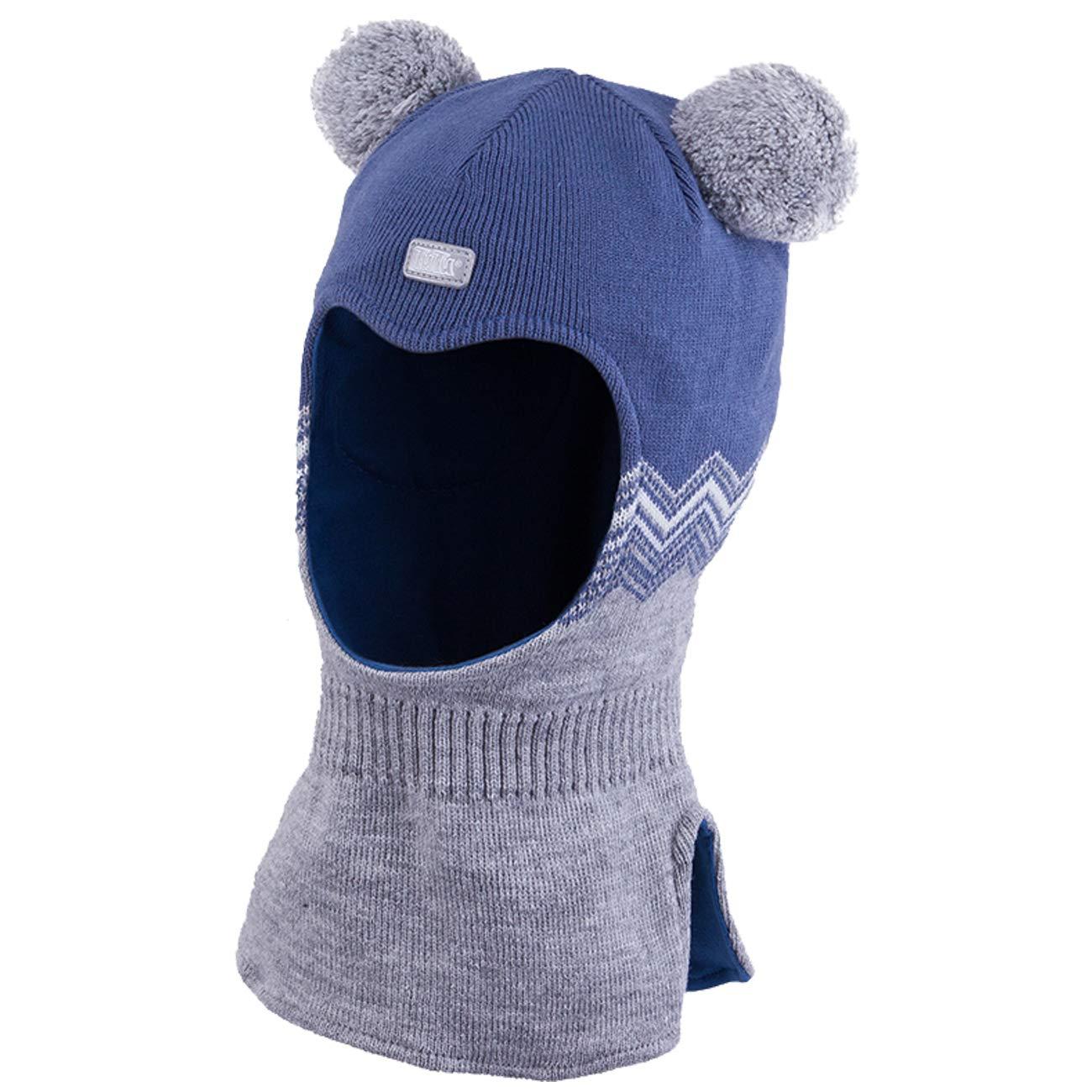 Galeja TuTu Kinder Schlupfmütze Jungenmütze Winter Mütze Baumwollfutter mit Stirnschutz + Ohren Membran 3-004354
