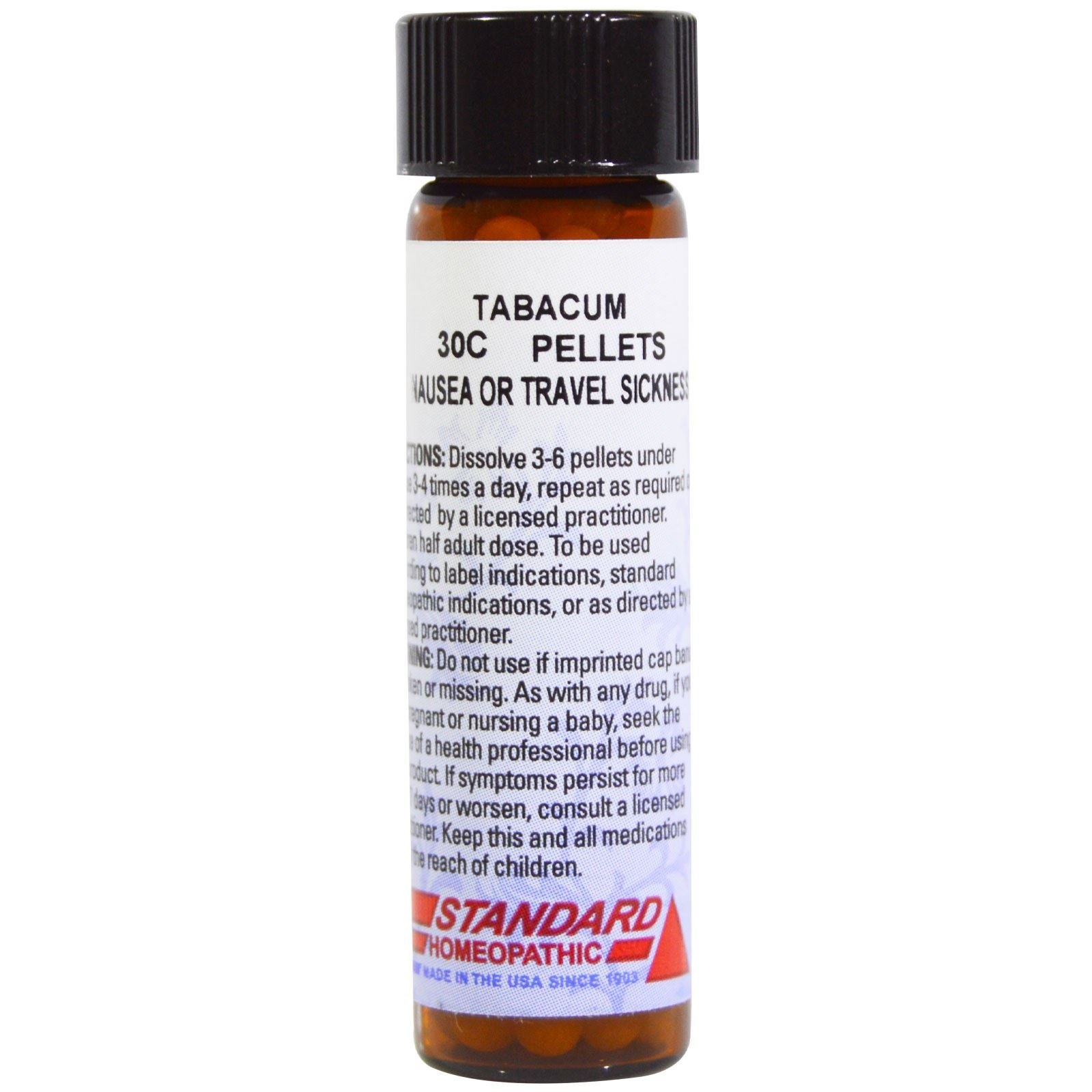 Hyland s Standard Homeopathic Tabacum Nausea or Travel Sickness 30C 160 Pellets