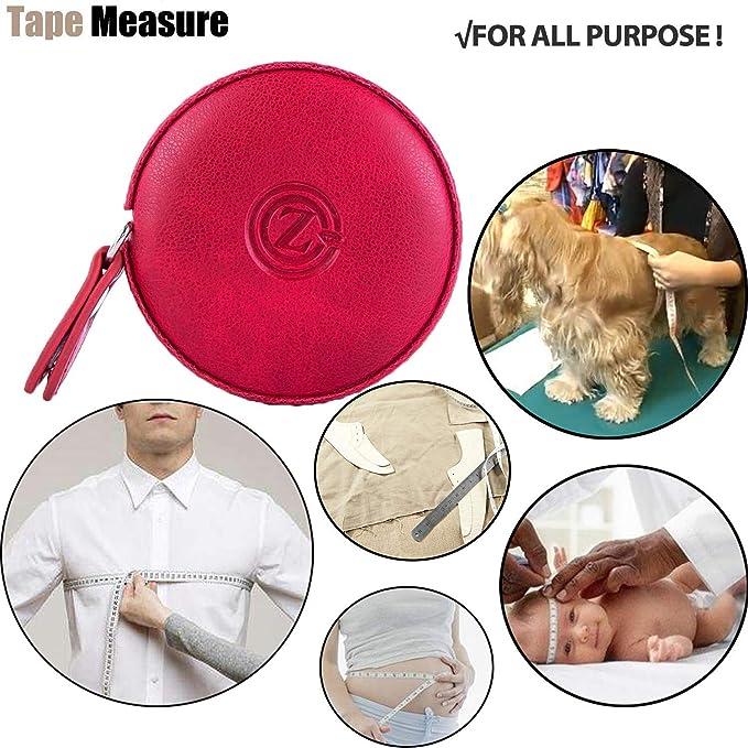 Cinta métrica de cinta retráctil de cuero para medir cuerpo 150 cm Cinta métrica de tela de sastre pequeña de 60 pulgadas, co: Amazon.es: Bricolaje y ...