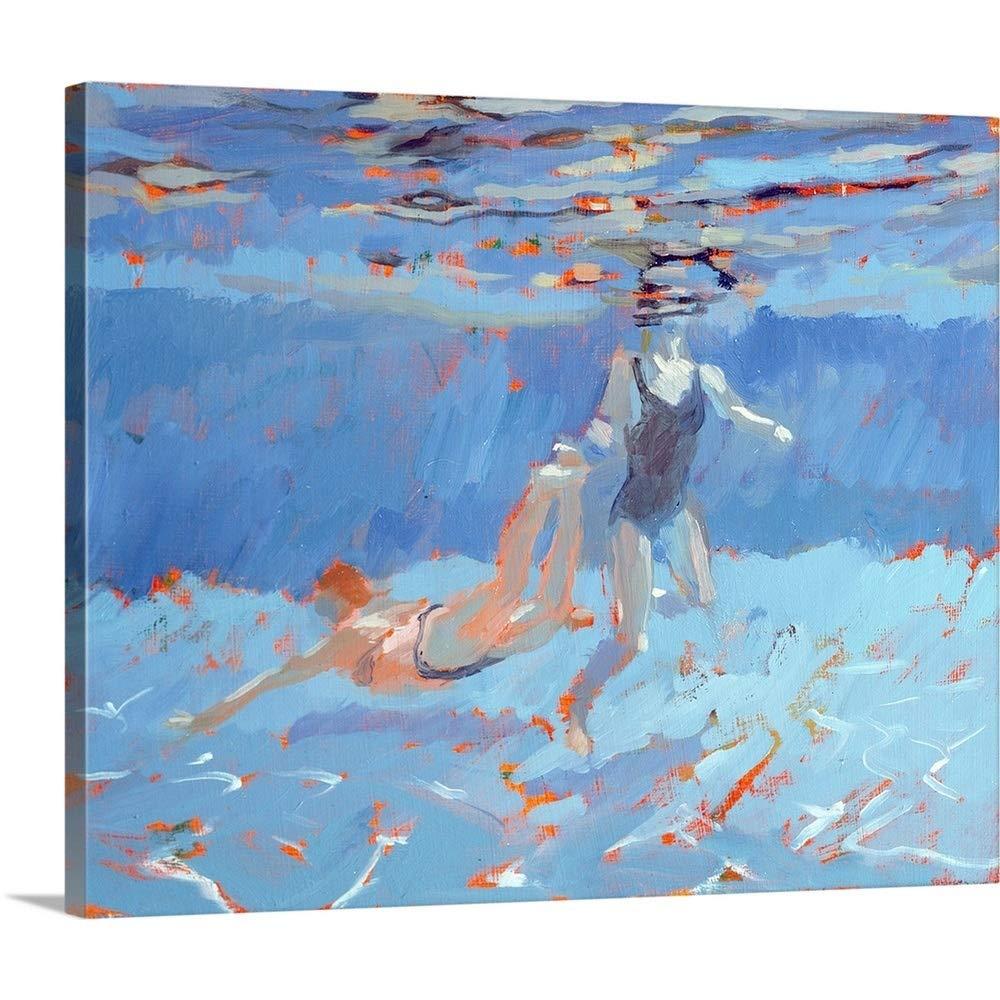 サラバターフィールドプレミアムシックラップキャンバス壁アート印刷題名Underwater 30