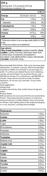 Prozis 100% Real Whey Protein 400 g: Suplemento puro en polvo. Disfruta del batido con sabor a Fresa y Kiwi más delicioso del mercado.