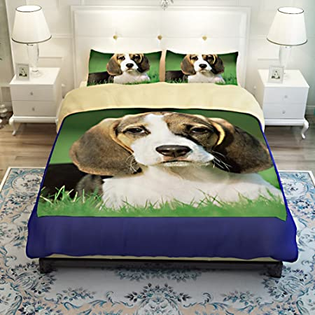 MeMoreCool 3D Creative Design Super Cute Pet Dog Bedding Set Beagles  Printing Duvet Cover Boys And