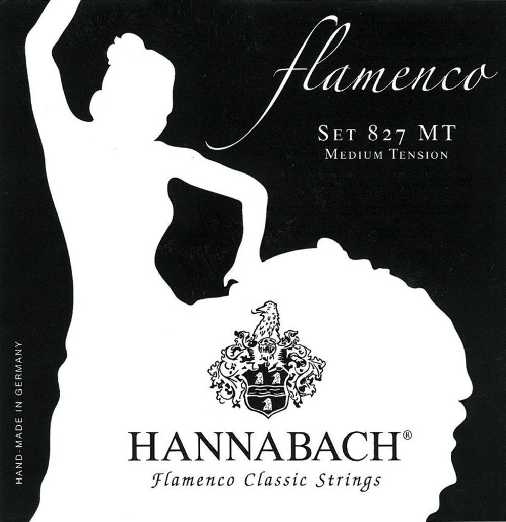 Hannabach Cuerdas para Guitarra Clásica, Serie 827 Tensión Media ...