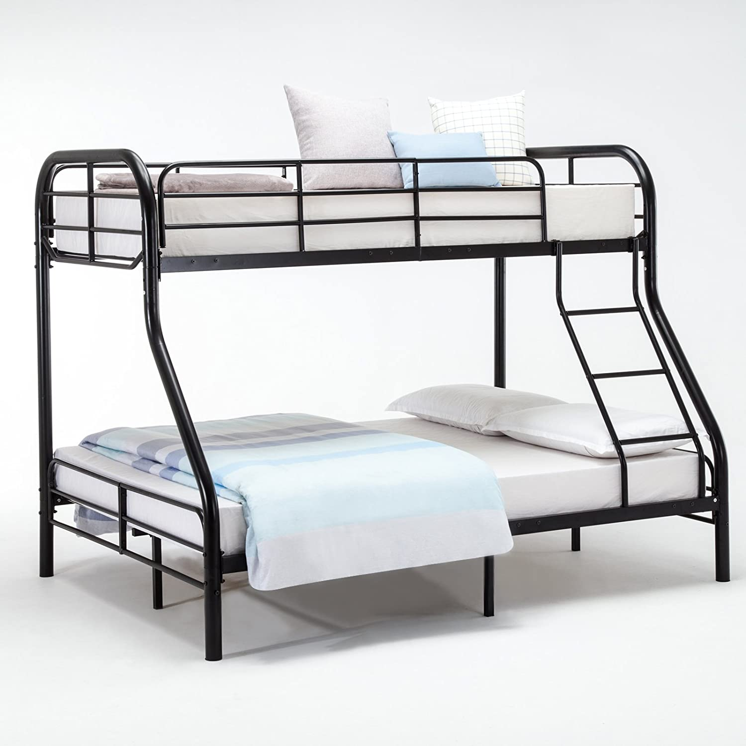 Metal full over full bunk beds full over full bunk bed for Metal bedroom furniture