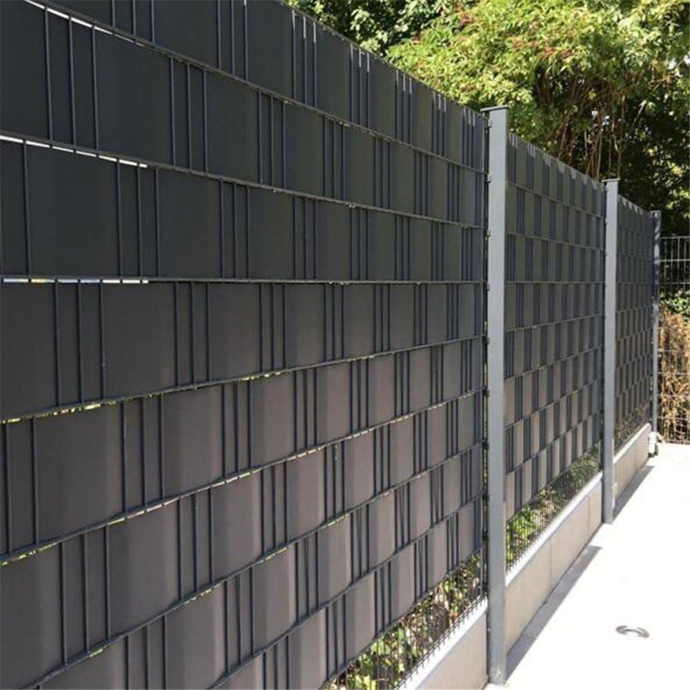 Hengda/® Pantalla de privacidad Estera de PVC Valla jardin Protector contra el viento Ca/ñizo PVC Doble Cara para jard/ín balc/ón y terraza Gris 80X400cm