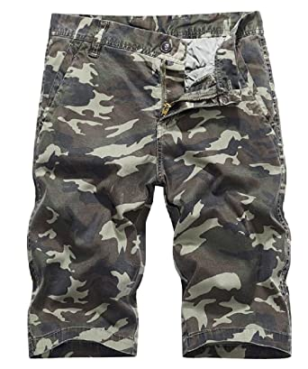 plus récent 97b0f b80c6 Yayu Mens Fashion Cool Military Camo Short Pants Homme Cargo ...