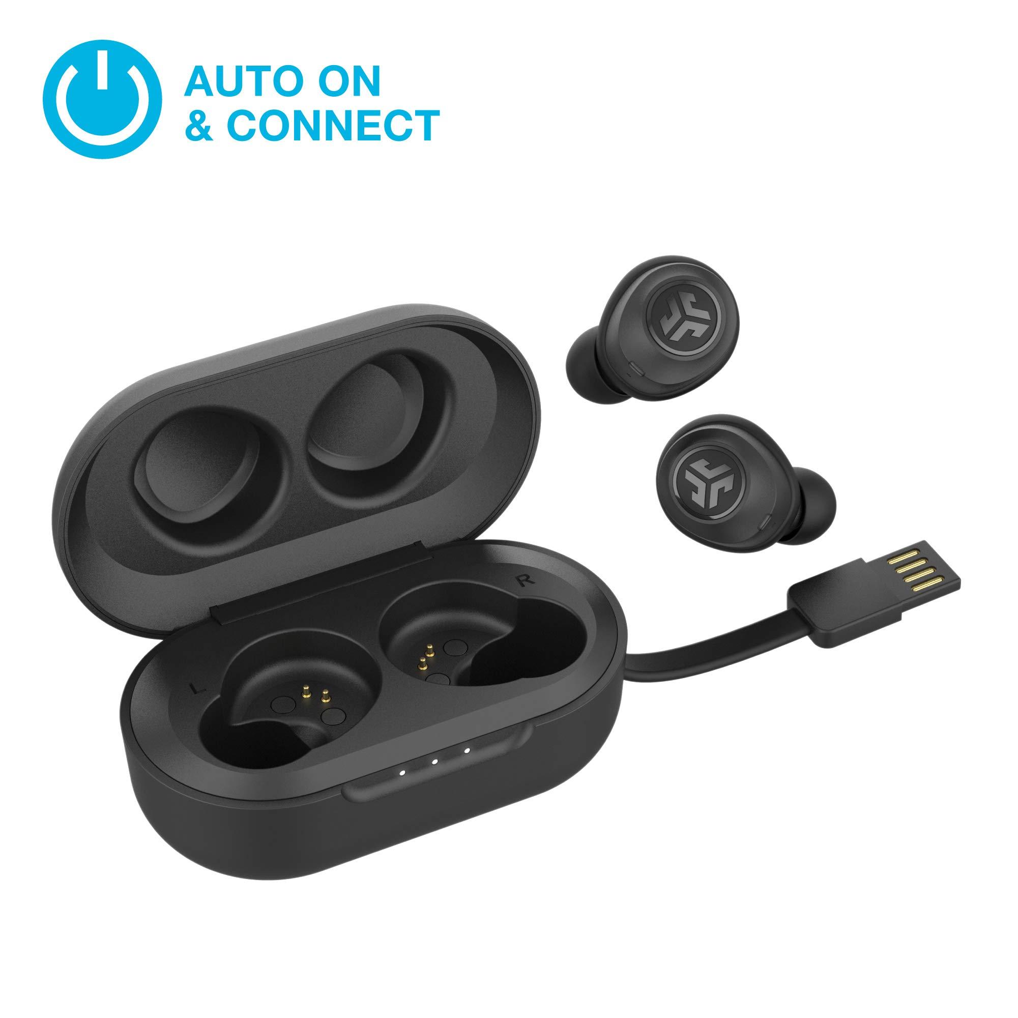 JLab Audio JBuds Air True Wireless Signature Bluetooth Earbuds + Charging Case - Black - IP55 Sweat Resistance - Bluetooth 5.0 Connection - 3 EQ Sound Settings: JLab Signature, Balanced, Bass Boost by JLAB (Image #2)