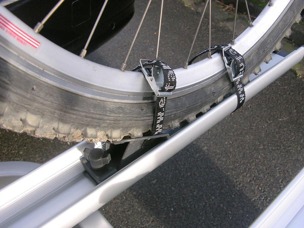 EUFAB 11240 Juego de sujeciones para barras portaequipajes de aluminio