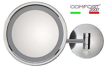Specchio Ingranditore Con Luce.Specchio Ingranditore Con Luce Led Corrente E Interruttore