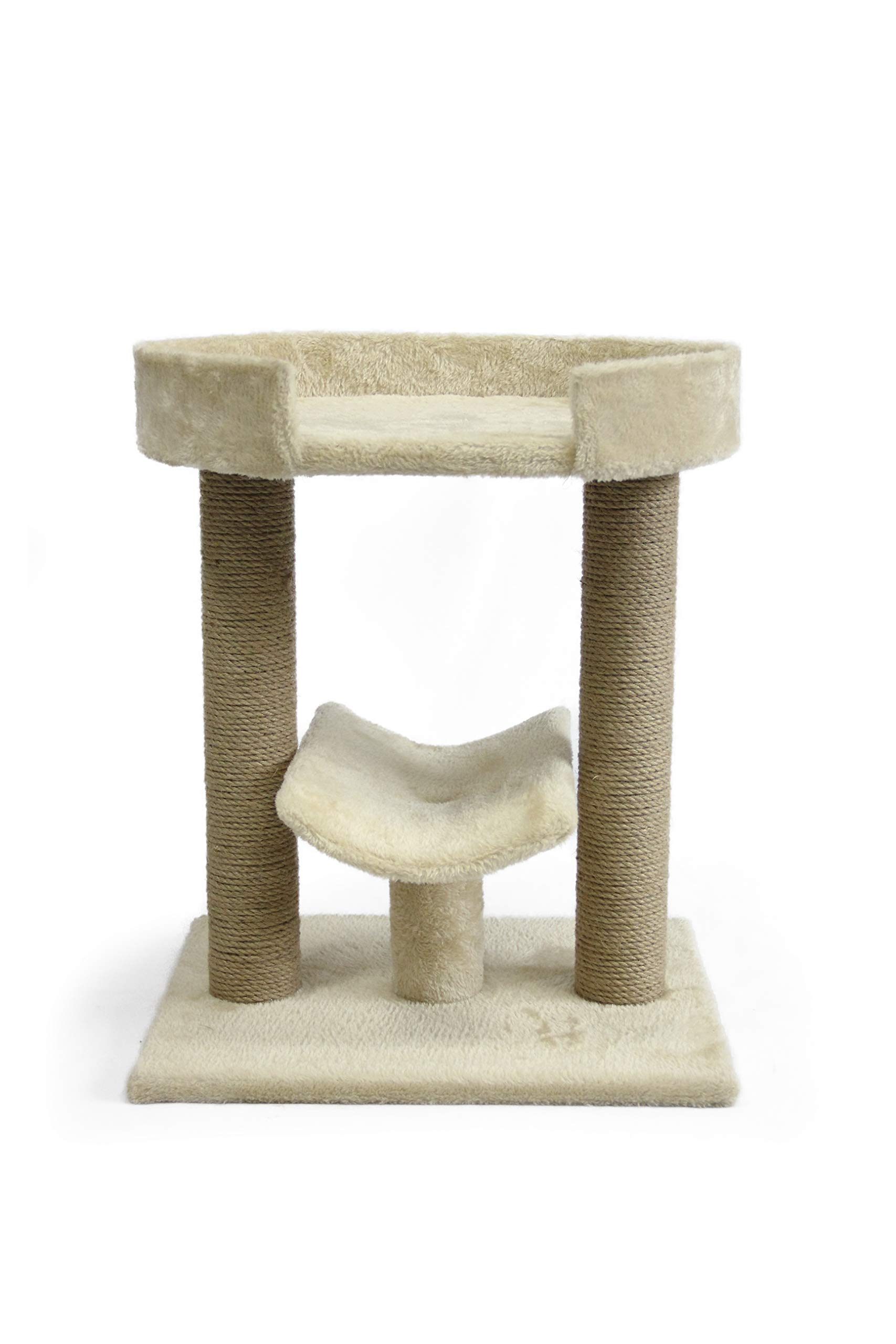 AmazonBasics Top Platform Cat Tree - 18 x 14 x 22 Inches, Beige by AmazonBasics