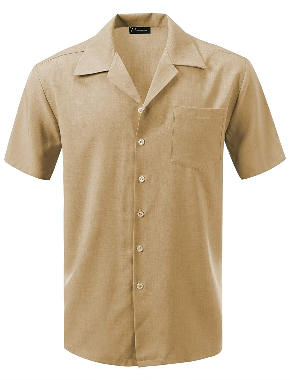 1940s Men's Shirts, Sweaters, Vests 7 Encounter Mens Camp Dress Shirt $29.99 AT vintagedancer.com
