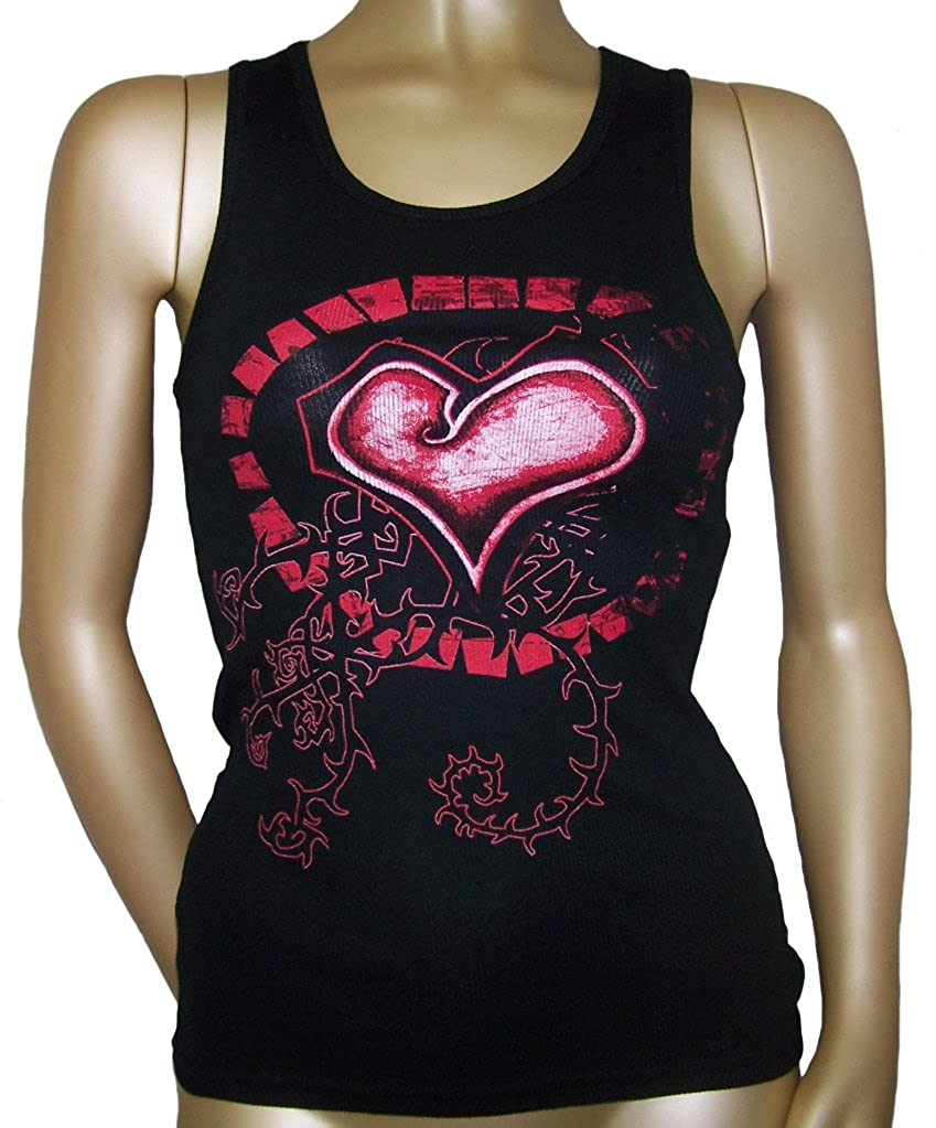Folter Womens Corset Beater Tank Top with Ribbon Lacing