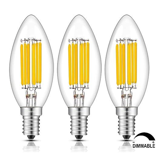 103 opinioni per TAMAYKIM Lampadina a Lume di Candela a Filamento Dimmerabile LED 6W, 2700K