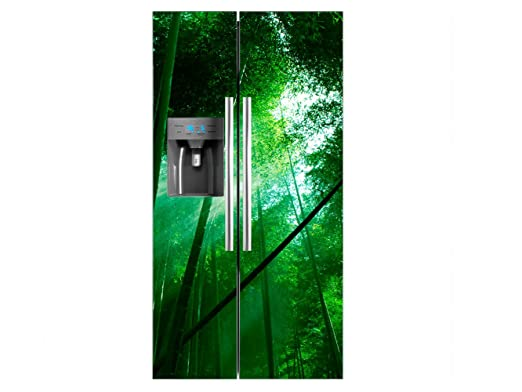 Vinilo Frigorífico Americano Bosque Bambú | 91x179cm | Varias ...