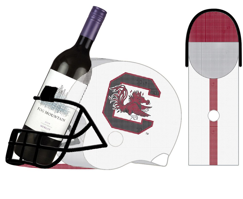 Texas A&M Aggies Football Helmet Bottle and Cork Cage Holder by Team Sports America (Image #1)