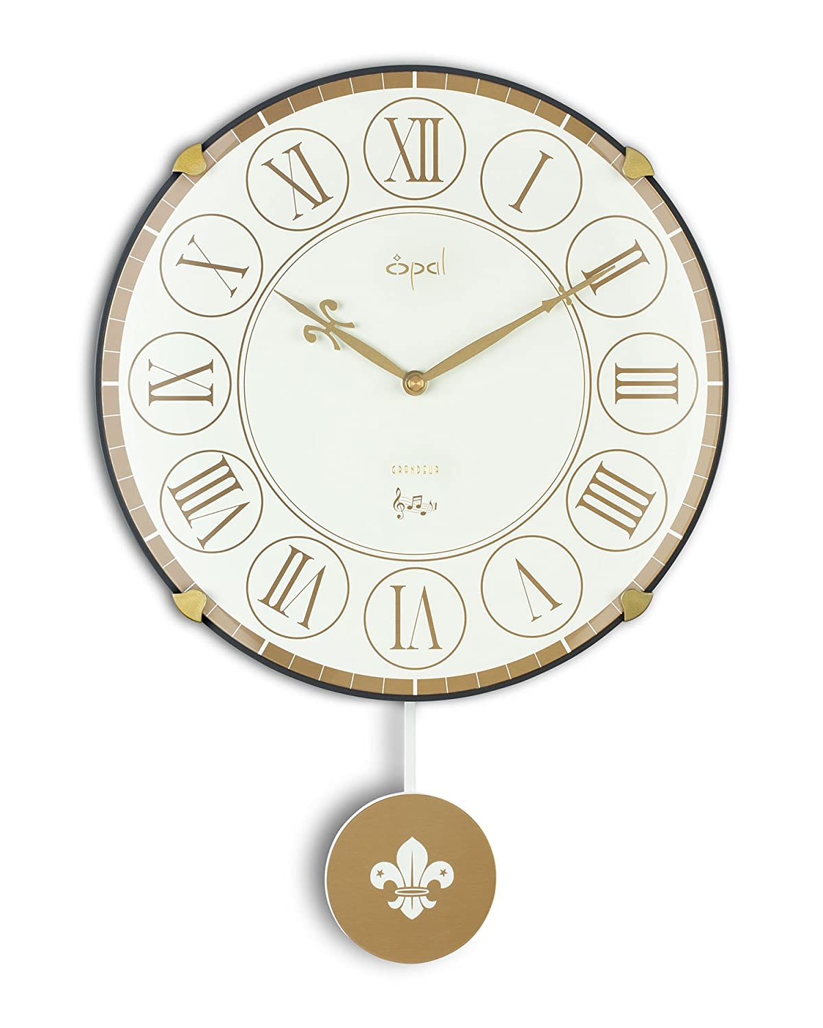 Buy opal designer dome glass wall clock 36 cm x 36 cm x 10cm buy opal designer dome glass wall clock 36 cm x 36 cm x 10cm white online at low prices in india amazon amipublicfo Choice Image