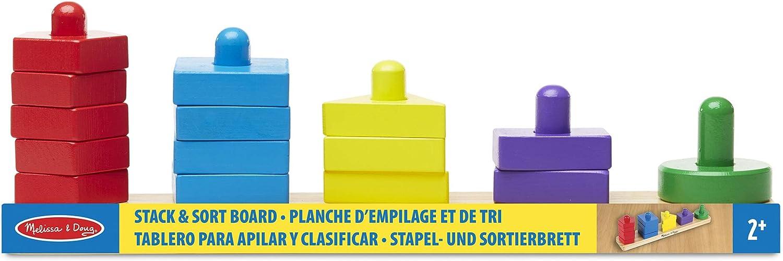 Melissa /& Doug 10379 Puzzle en Bois /À Boutons Planche D/'Empilage Et De Tri /& 19053 Animaux Domestiques