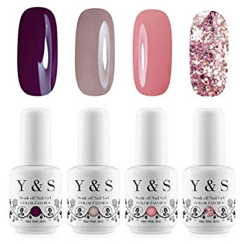 Amazon gel nail polish set pure and glitter color gel polish gel nail polish set pure and glitter color gel polish nail art gift box solutioingenieria Image collections
