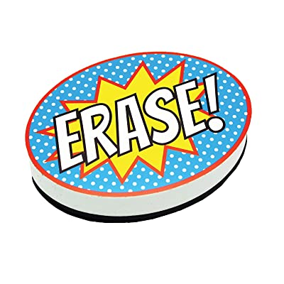 ASHLEY PRODUCTIONS Superhero Erase Magnetic Whiteboard Eraser: Toys & Games