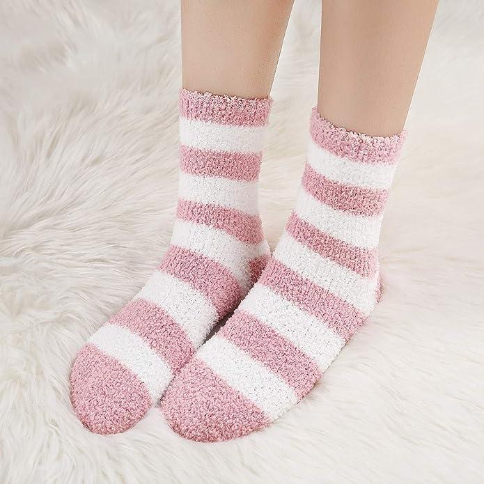 LIBWYS Lot de 6 paires de chaussettes en microfibre pour femme