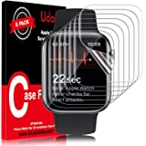 Udaily 8 Pack Screen Protector for Apple Watch 44mm Series 4/5/6 and Apple Watch SE 44mm, Max Coverage Bubble-Free…