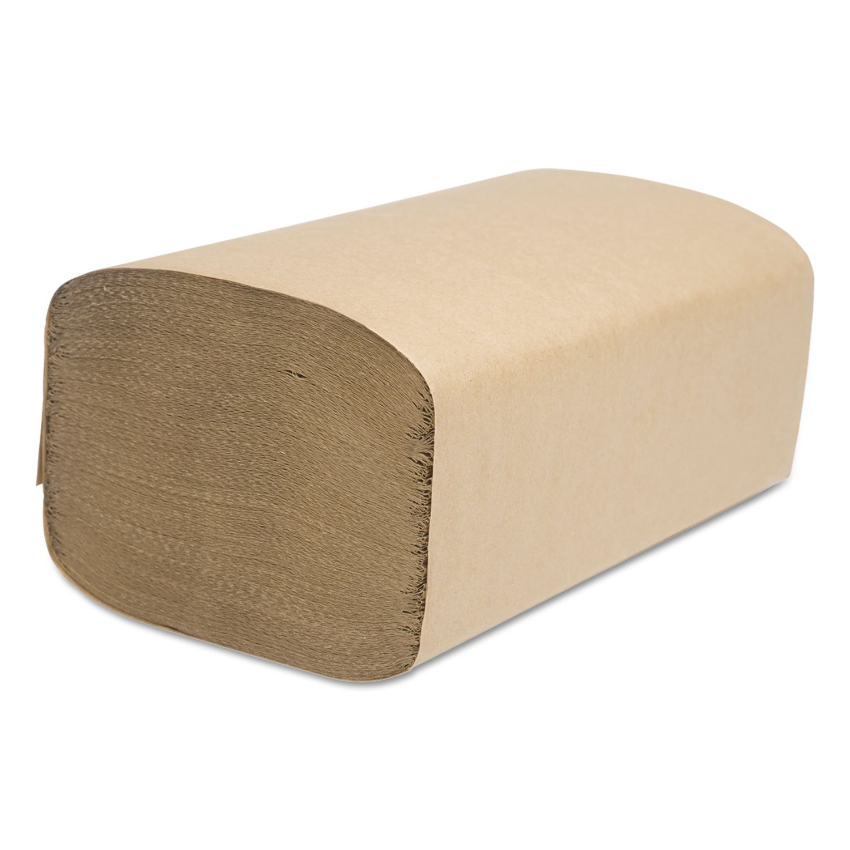 Décor Folded Towel, Single-Fold, Natural, 9.11 x 10.25, 250/Pack by Cascades