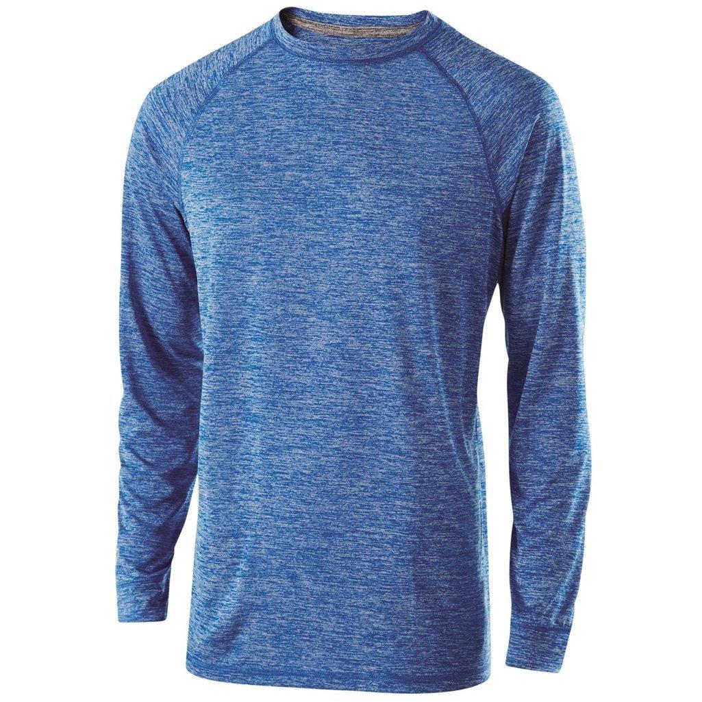 Medium, Royal Heather Holloway Youth Electrify 2.0 Long Sleeve Shirt