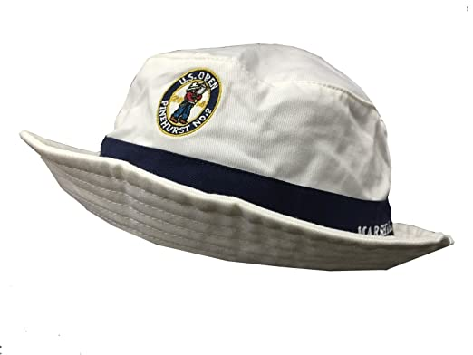 1ba27605c76 Ralph Lauren Polo Official US Open 2014 White  Marshal  Bucket Hat S ...