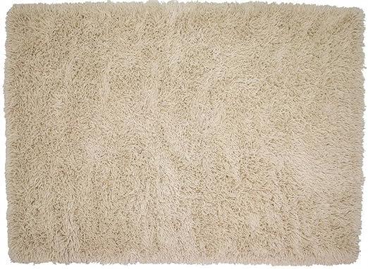 Floorpassion Bruselas 69 - Alfombra de Pelo Largo, algodón, Weiß (11), 250 x 350 cm: Amazon.es: Hogar