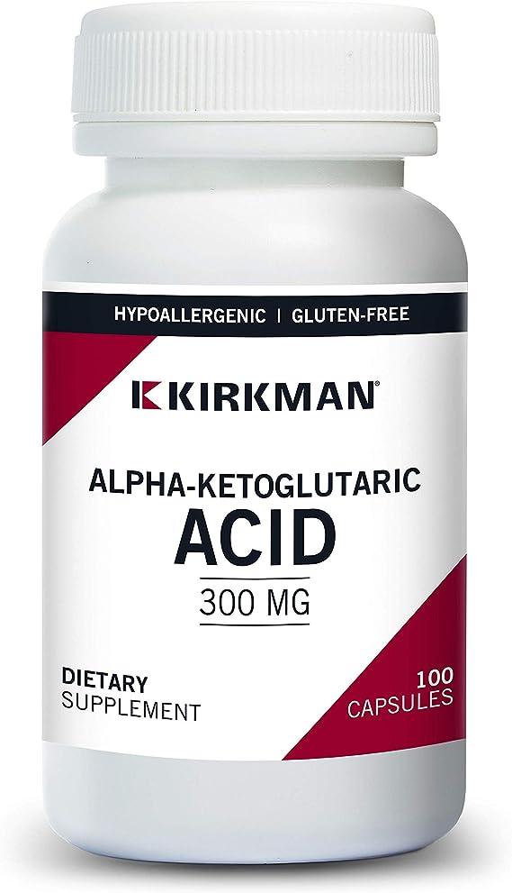 Kirkman Alpha Ketoglutaric Acid 300 Mg Hypoallergenic 100 Vegetarian Capsules Health Personal Care Amazon Com