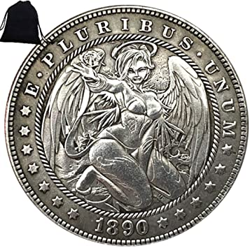 American Commemorative Coin Gift for Dad//friend//Husband Future experience FKaiYin Cowboy Girl  Old Coin-1888 US Hobo Nickel One-Dollar Morgan Dollar Coin