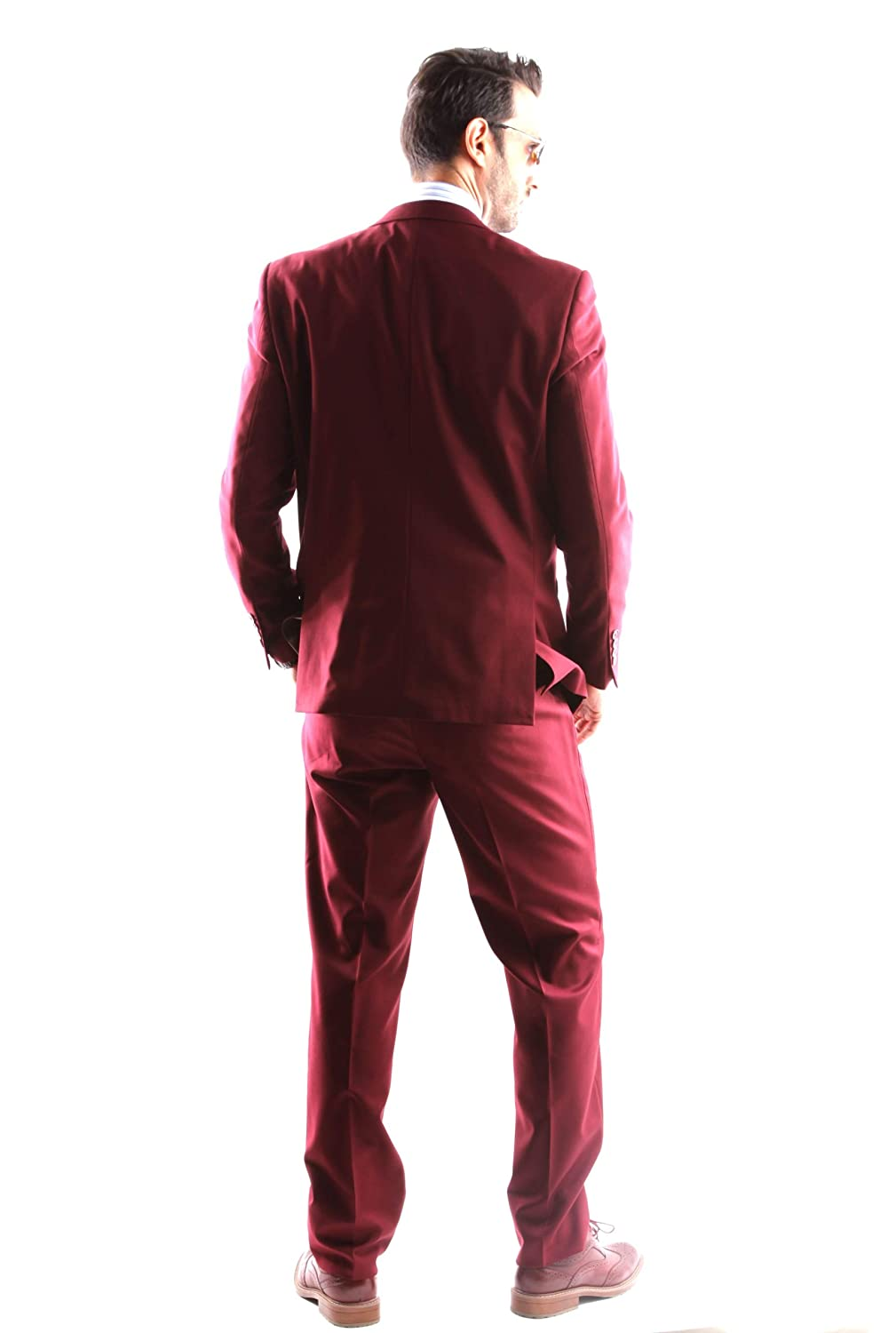 Mens Single Breasted 2 Button Slim Fit Dress Suit