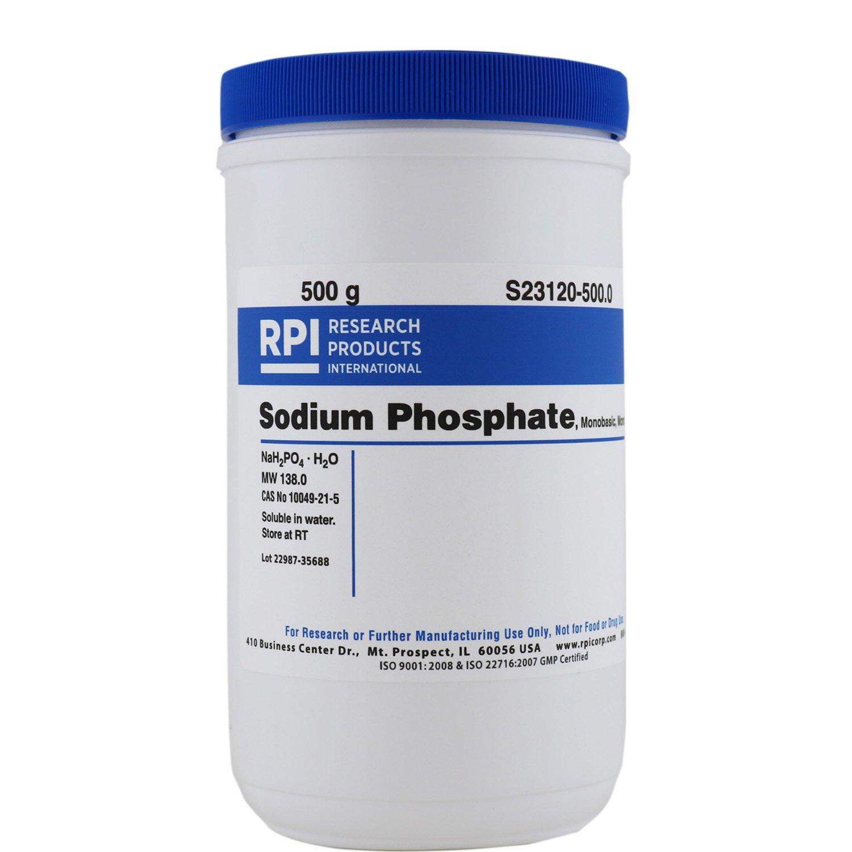 Sodium Phosphate Monobasic Monohydrate [Sodium dihydrogen phosphate monohydrate], 500 Grams